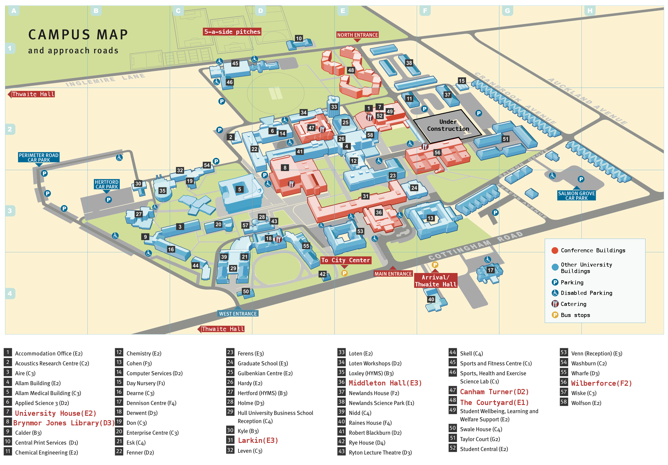 Hull University Campus Map Untitled Hull University Campus Map