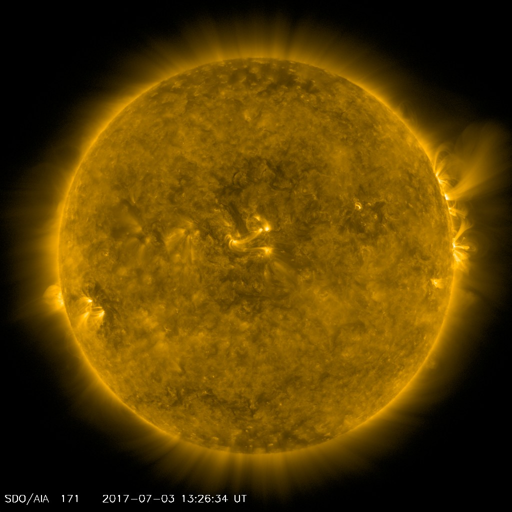Image of the sun in 171 angstrom as seen by NASA's SDO